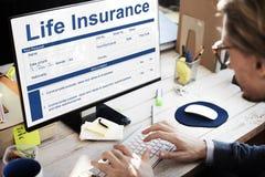 Términos de póliza de seguro de vida del concepto del uso fotografía de archivo