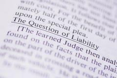 Términos legales #1 Foto de archivo libre de regalías
