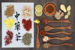 Tés herbarios chinos de la salud Foto de archivo libre de regalías