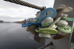 Tétines sur le pont Photo libre de droits