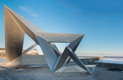 Tétra sculpture Kingston, Ontario, Canada image stock