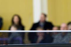 Tênis de mesa contra a ideia de um estádio imagens de stock royalty free