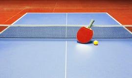 Tênis de mesa, tênis de mesa Foto de Stock