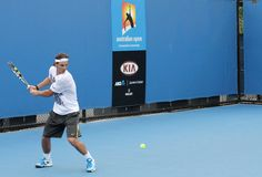 Tênis profissional no Australian 2012 aberto imagens de stock