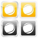 Tênis quadrado do ícone ilustração royalty free
