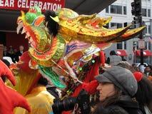 Tête à cornes de dragon Images stock