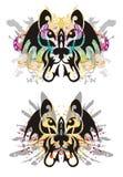 Tête abstraite grunge de chat Image stock