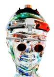 Tête androïde Photographie stock libre de droits