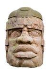 Tête antique d'olmec Images stock
