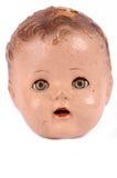 Tête antique de poupée Images stock
