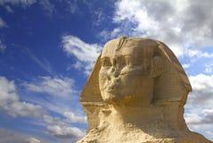 Tête célèbre de sphinx d'Egypte antique Image stock
