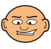 Tête chauve de dessin animé illustration libre de droits