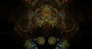 Tête chinoise de dragon de symétrie cosmique Photographie stock libre de droits