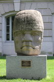 Tête colossale d'Olmec à Washington D C Photographie stock libre de droits