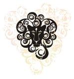 Tête décorative de lion Photographie stock libre de droits