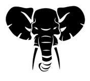 Tête d'éléphant Photographie stock libre de droits