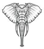 Tête d'éléphant dans l'ornement Illustration de vecteur illustration stock
