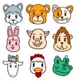 Tête d'animal de dessin animé Images stock
