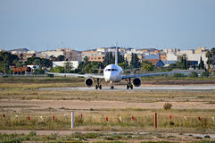 Tête d'avion de passagers dessus Photos libres de droits