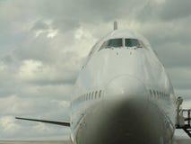 Tête d'avion en fonction Images stock