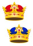 Tête d'or de roi avec des gemmes illustration libre de droits