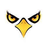 Tête d'Eagle sur l'icône blanche eps10 de fond Photos libres de droits