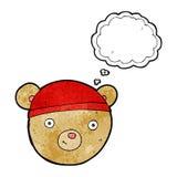 tête d'ours de nounours de bande dessinée avec la bulle de pensée Image libre de droits