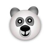 Tête d'ours de panda dans 3d Illustration Libre de Droits