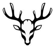 Tête d'un cerf commun noir illustration libre de droits