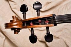 Tête d'un violoncelle Photographie stock libre de droits