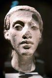 Tête d'une statue de pharaon Akhenaten Amenhotep IV dans l'Egyptien Photo stock