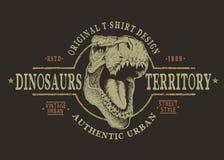 Tête dangereuse de tyranosaur illustration de vecteur