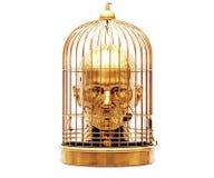 Tête dans la cage Photo libre de droits