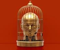 Tête dans la cage Images libres de droits