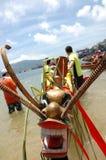 Tête de bateau de dragon Photo stock