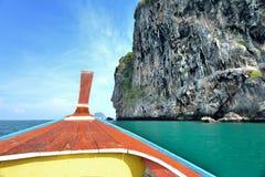 Tête de bateau de longue queue Images stock