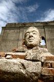 Tête de Bouddha au prasop de saam de wat Photos libres de droits