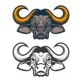 Tête de Buffalo Mascotte d'équipe de sport Images libres de droits