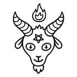 Tête de chèvre de Satan illustration stock