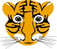 Tête de chéri de tigre Images libres de droits