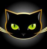 Tête de chat noir Image libre de droits