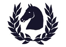 Tête de cheval avec le laurier illustration libre de droits