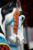 Tête de cheval de carrousel images stock