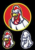 Tête de coq dans le style de mascotte de sport illustration libre de droits