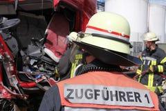 Tête de corps de sapeurs-pompiers des opérations Photos stock