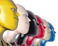 Tête de couleur de robots Photographie stock
