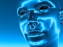Tête de Cyborg Photo libre de droits