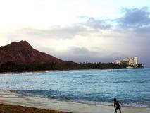 Tête de diamant et plage de Waikiki Images libres de droits
