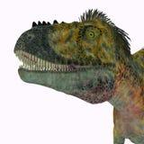 Tête de dinosaure d'Alioramus illustration libre de droits