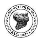 Tête de Dinosaurus Tiré par la main Illustration de vecteur Image libre de droits
